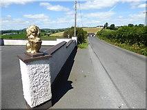 H6156 : Lion sculpture along Feddan Road by Kenneth  Allen