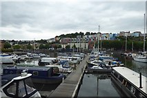 ST5772 : Albion docks marina by DS Pugh