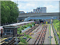 TQ3490 : Victoria Line tracks south of the Northumberland Park Depot (2) by Mike Quinn
