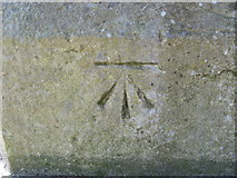 SE1734 : OS Cut Benchmark, Undercliffe Cemetery, Otley Road Entrance by Stephen Armstrong