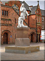 TA0928 : Trinity Square, Andrew Marvell's Statue and School by David Dixon
