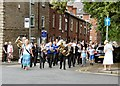 SJ9593 : Gee Cross Well Dressing 2017: Start of the procession by Gerald England