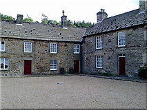 NY9650 : Houses at the Square in Blanchland by stalked