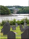 SH5571 : Church Island graveyard by Gordon Hatton