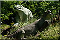 TQ3470 : Crystal Palace Dinosaurs by Peter Trimming