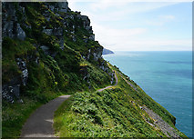 SS7049 : The South West Coast Path on the way to the Valley of Rocks by Bill Boaden