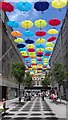 SJ3490 : Umbrellas over Church Walk - Liverpool by Anthony Parkes