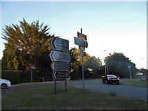 SU3521 : Roundabout on Southampton Road, Romsey by David Howard