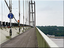 TA0224 : Humber Bridge Pedestrian Walkway by David Dixon