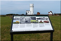 TF6742 : Information board at St Edmund's Point, Hunstanton by Mat Fascione