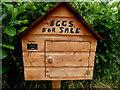H4369 : Eggs for sale box, Loughmuck (Acorn) by Kenneth  Allen