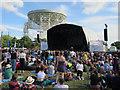 SJ7971 : Bluedot Festival main stage, Jodrell Bank by Hugh Venables