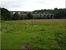 SJ2837 : Chirk Aqueduct an Railway Viaduct by John M
