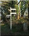 SX0875 : Signposts old and very old, Wenfordbridge by Derek Harper