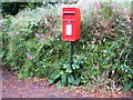 SW7439 : Elizabeth II postbox the A393, Burncoose by JThomas