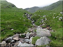 NN0829 : Burn in Coire Cruachan by Andrew Curtis