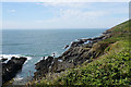 SS4239 : Rocky inlet near Croyde Bay by Bill Boaden