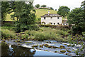 NY5124 : House beyond weir on River Lowther by Trevor Littlewood