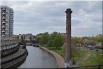 TQ3681 : Chimney by Regents Canal by N Chadwick