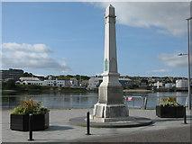NJ9505 : Footdee War Memorial, Pocra Quay, Aberdeen Harbour by G Laird