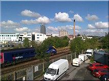 TA0828 : Railway line beside Hull Royal Infirmary by David Anstiss