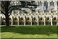 SU1429 : Cloisters, Salisbury Cathedral by Julian Osley
