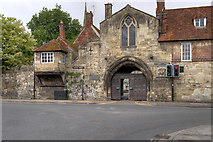 SU1429 : St Anne's Gate, Salisbury by David Dixon