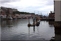 NZ8911 : Whitby. Outer harbour from the swing bridge by Robert Eva