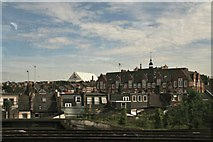 TQ2775 : Looking towards Amies Street from the railway in Battersea by Chris