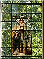 SU5332 : Stained Glass Window Crucifixion Scene, St Mary's Church by David Dixon