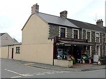 SS7690 : Corner Shop in Port Talbot by Alan Hughes