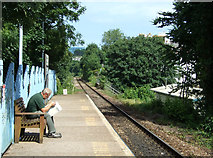 SW8132 : Waiting for a train, Falmouth Town Railway Station by JThomas
