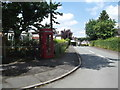 SJ3060 : Old Telephone Kiosk, Pen-y-Ffordd by Eirian Evans