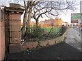 SJ3691 : The southwest corner of Grant Gardens perimeter wall by John S Turner