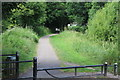 ST2788 : Walkers on canal side path approaching Ruskin Avenue by M J Roscoe