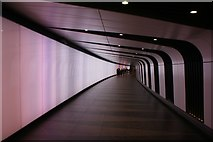 TQ3083 : View along the tunnel into Kings Cross St Pancras tube station from King's Boulevard by Robert Lamb
