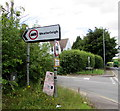 ST6982 : Weight restriction sign on a Nibley corner, South Gloucestershire by Jaggery