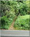 SO8706 : Footpath to Folly Lane at Slad Road by Humphrey Bolton