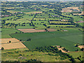 SJ7879 : Farmland near Mobberley from the air by Thomas Nugent
