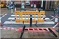 SX8966 : Closed pedestrian crossing, The Willows by Derek Harper