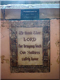 NY9449 : 'Thankful Village' plaque, Church of St James, Hunstanworth by Karl and Ali