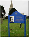 SO8014 : Information board, Parish Church of St James, Quedgeley by Jaggery