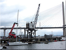 NT1278 : Crane at Port Edgar Marina by Gareth James
