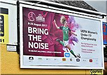 J3272 : UEFA women's football poster, Belfast (July 2017) by Albert Bridge