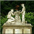 SK4341 : Sculptural group, West Hallam war memorial by Alan Murray-Rust