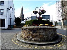 H4472 : Raised flowerbed at The Diamond, Omagh by Kenneth  Allen