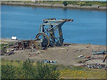 NS3075 : Remains of a Dry Dock crane at Inchgreen by Lairich Rig
