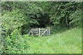 SO1806 : Gate from sheep pasture, Silent Valley LNR by M J Roscoe