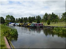 ST2526 : Boats moored at Bathpool on Bridgwater and Taunton Canal by David Smith