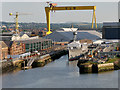 J3576 : Belfast Harbour, Alexandra Dock and HMS Caroline by David Dixon